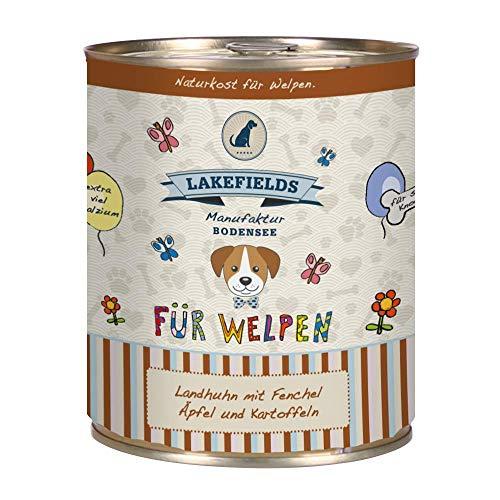 Lakefields Hochwertiges Premium Welpen Hundefutter (Rind, 6 x 800 gr)