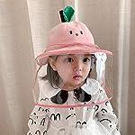 Keleily Sombrero Protector Bebe con Pantalla de Protección Facial, Sombrero Protector Facial Niños S... #5