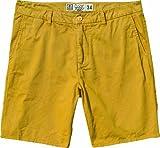 Globe Goodstock Chino-Pantalón Corto para Hombre, Unisex, Walkshort Goodstock Chino, Giallo - Senape, 30