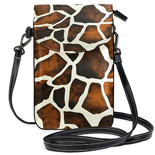 ClownFish Animal Giraffe Print Mini bolsos de hombro cruzados Monedero para celular Billetera Bolsa Bolso...