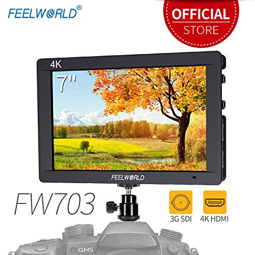 Feelworld FW703 7 Pollici On Camera DSLR Monitor Field Full HD Focus Video Assist 1920x1200 IPS con 4K HDMI 3G SDI Input Output Histogram