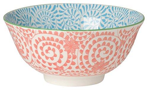 Now Designs Akita Stamped Bowl, Orange, Set of 6