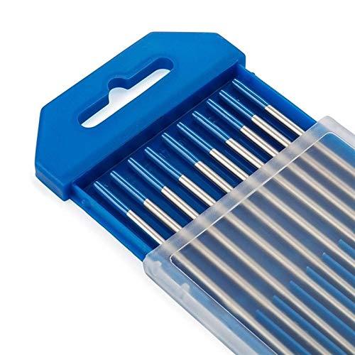 Jdon-hats FJY-Spring 10 unids WL20 Final de Tierra Tip Azul TIG TIG Barras de Soldadura Tungsteno Electrodos (tamaño : 2.4 x 150mm)