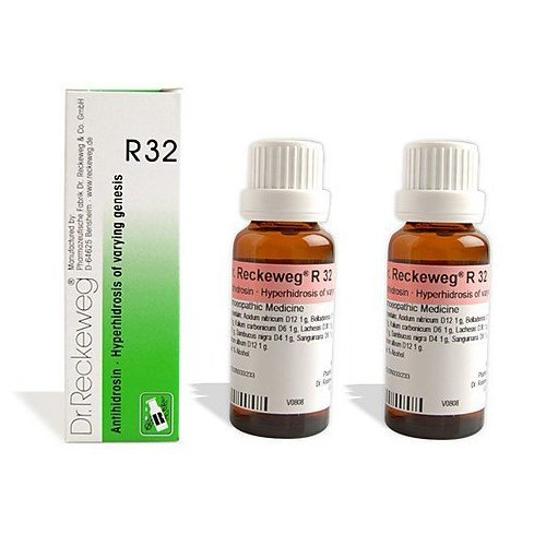 2 LOT X Dr. Reckeweg - Homeopathic Medicine - R32 Excessive Perspiration