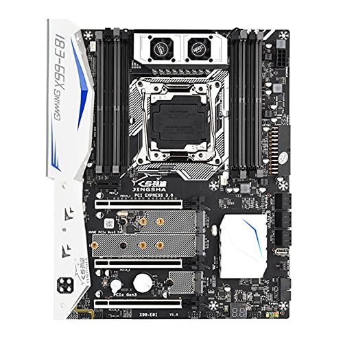 Morninganswer Procesador X99-E8I Placa Base de computadora DDR4 Memoria LGA 2011V3V4 con Placa Base de Ventiladores de refrigeración de Alta eficiencia