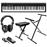 Roland Roland FP-30 Piano digital con soporte para teclado, banco, pedal y kit de auriculares