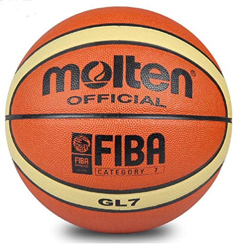 Fantastic Prices! MINSA GL7 Basketball PU Materia Official Size7 Basketball with Free Bag Net + Need...