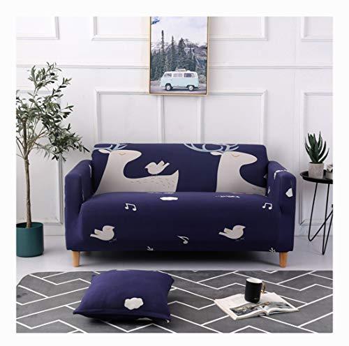 DaiHan Funda de sofá elástica Cubierta de sofá Universal Moderna Simple Todo Incluido Antideslizante Cubierta de Polvo Cubierta Completa cojín del sofá AsPic5 2Seat(145-185cm)
