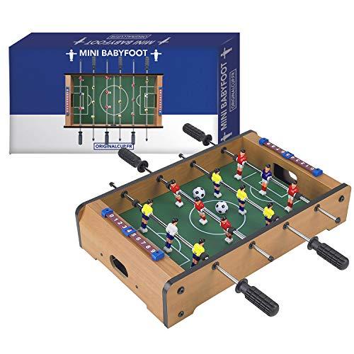 Mini Tischkicker | Gesamtpaket | Premium Qualität | Maße 23 x 69 x 60 cm | Leicht und einfach tragbar | Spiel für die gesamte Familie | Kinder und Erwachsene | Von OriginalCup®