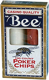 Bee Casino Quality 100 Count Poker Chip Set