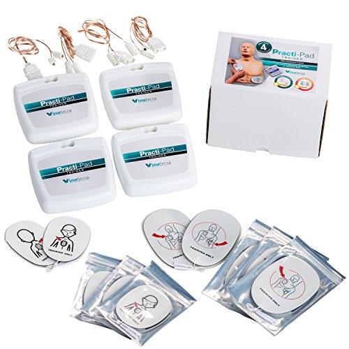 Pulox Erste Hilfe Practi-Pad Trainer Defibrillator Training Adult + Child 4 Stück
