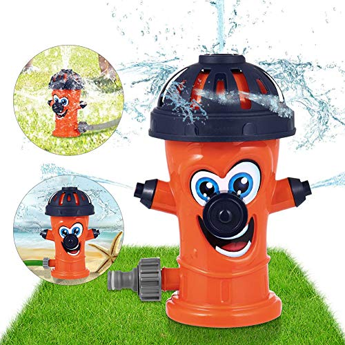 Sunshine smile Sprinkler Spielzeug für Kinder,Hydrant Sprinkler,Wasserspielzeug Sprinkler,Wassersprinkler Garten Kinder,Sprinkler für Outdoor Garten,Wasserspielzeug für Sommer (Orange)