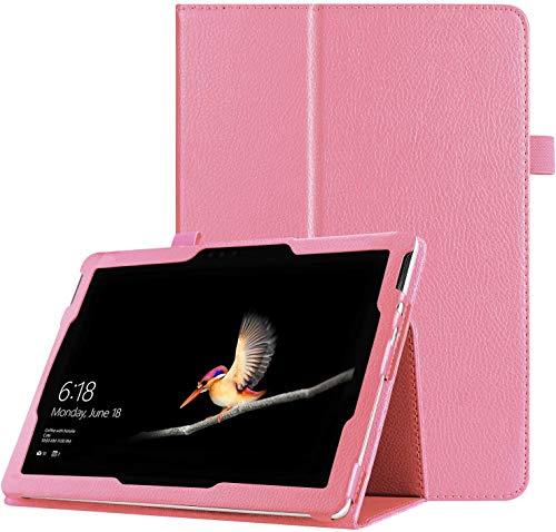 Funda para Microsoft Surface Pro 7/Pro 6/Pro 2017, FANSONG Bifold Series Litchi delgada de piel magnética con función atril para tablet Surface Pro 5/4/3 Windows de 12.3 pulgadas, rosa