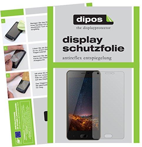 dipos I 6X Schutzfolie matt kompatibel mit Doogee X20L Folie Bildschirmschutzfolie