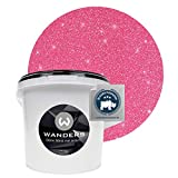 Wanders24® Glimmer-Optik (3 Liter, Silber-Pink) Glitzer Wandfarbe - Wandfarbe Glitzer - abwaschbare Wandfarbe - Glitzerfarbe - Made in Germany