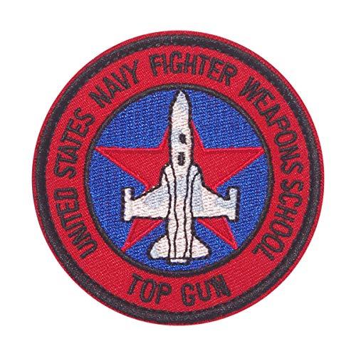 Cobra Tactical Solutions - Parche Militar UNITED STATS NAVY FIGHTER WEAPONS SCHOOL TOP GUN Patch con Cierre de Velcro para Airsoft, Paintball, Ropa táctica y Mochila