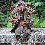 Garten Big Goblin Eddie, Gartenzwerg Outdoor-Halloween-Dekorationen Gartenarbeitsstatue, Gartenzwerge des Troll-ClansEvil Little Old Man (B)