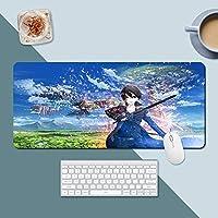 日本の古典的なアニメの剣アートオンラインクールな3D印刷マウスパッドオフィスコンピュータ滑り止めマウスパッドエクストラロングテーブルマット (300×600×3mm,A8)