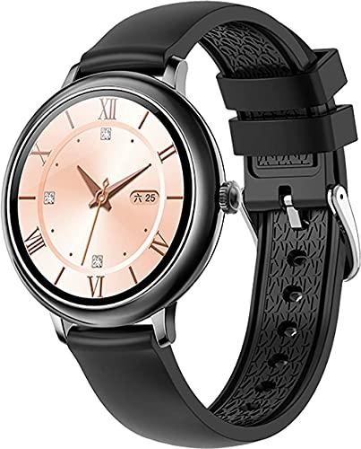 Relojes inteligentes para mujer Fitness Tracker Reloj inteligente impermeable Deportes podómetro contador de pasos pantalla táctil smartwatch-negro