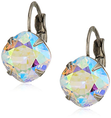 Sorrelli Essentials Crystal Ab Cushion Cut French Wire Drop Earrings