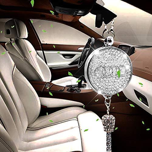VILLSION Original Auto Logo Lufterfrischer Rückspiegel Auto Duft Duftspender Diamant Anhänger mit Geschenkbox für Fahrer