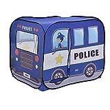 [casa.pro] Carpa para niños para jugar 80 x 100 x 70 cm tienda de campaña Coche de la polícia