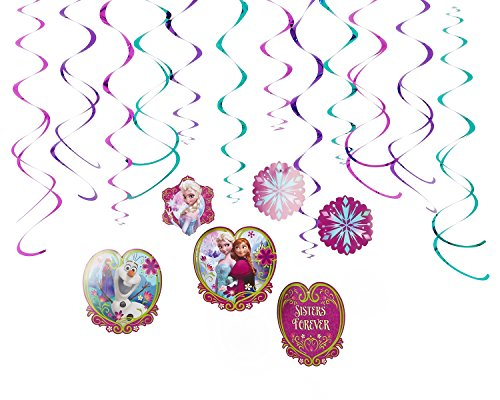 American Greetings AM-670365 670365 Party Supplies, 12-Count, Swirl Decoration