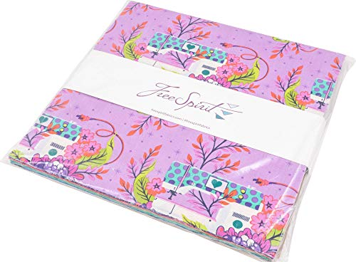 pink and purple quilting fabric - 7
