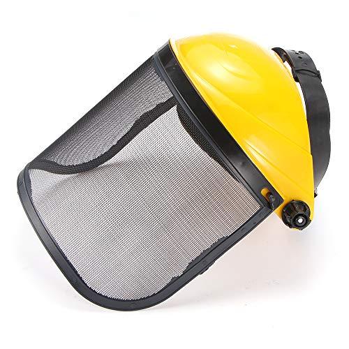 Ahageek Sombrero de Casco de Seguridad, Sombrero de Casco de Seguridad para recortador de césped de jardín con Visera de Malla de Cara Completa para protección Forestal 🔥