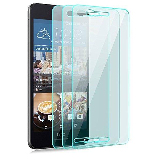 Saxonia [3 Stück Bildschirmschutz Folie kompatibel mit HTC Desire 728G Dual SIM Bildschirmschutzfolie aus gehärtetem Glas Schutzglas Glasfolie Schutzfolie | HD Klar Transparent