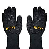 RIFNY Grillhandschuhe, Ofenhandschuhe Hitzebeständig bis zu 800°C Backhandschuhe feuerfeste Handschuhe für BBQ Kochen Grill Handschuhe(Schwarz)
