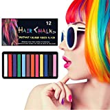 Hair Chalk for Girls,Temporary Hair Dye Chalk for kids,Bright Hair Toy Gift for Kids Age 4 5 6 7 8 9 10 on Crazy Hair Day, Children's Day, Birthday Party, and Halloween (12 Colors)