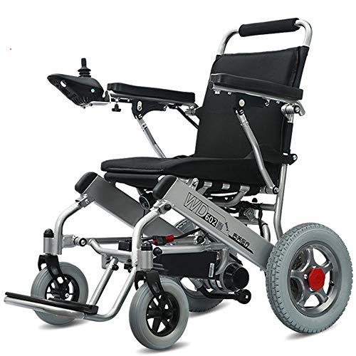 LUXDAMAI - Silla de ruedas plegable y ligera con doble motor, resistente a la intemperie, para viaje, segura, portátil, motorizada eléctrica