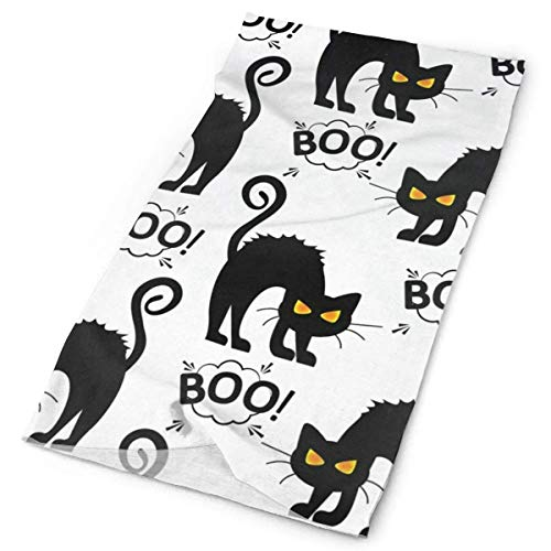 Nother Black Cat Cloud Boo Funny Outdoor Scarf Mask Neck Gaiter Head Wrap Sweatband Headwear