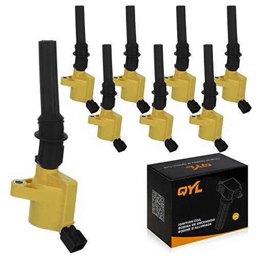 8Pcs High Performance Ignition Coil Pack Fits Ford F150 F250 F350 Lincoln Mercury 4.6L 5.4L V8 DG508 C1454 FD503 Yellow