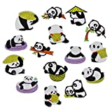 15PCS Broderie Patch Thermocollant Ecusson à Coudre Panda Mignon Repasser sur des Patch Appliqué à Coudre Thermocollant Autocollant de Patch Broderies pour Vêtement T-Shirt Chapeaux Sac à Dos Jean DIY