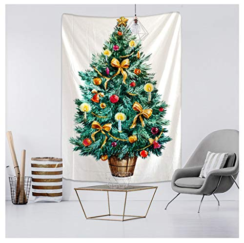New Year Christmas Tree Tapestry Ornament Wall Hanging Tapestry Carpet Xmas Home Deocr Yoga Pad Bedspread Beach Mat Gift