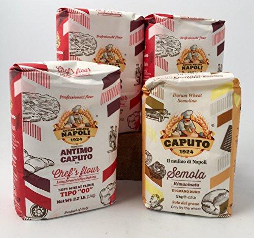 Molino Antimo Caputo Napoli Antima caputo Mühle '00' Mehl + Grießmehl (3 + 1 Beutel)