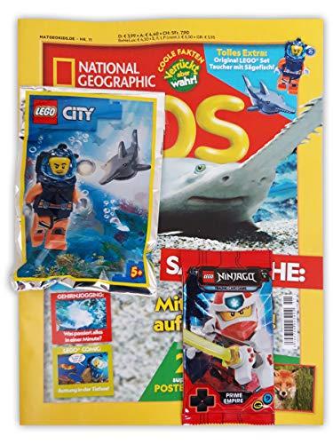 National Geographic Kids Sammelmagazin N°11/2020 - Poster extra con personaggio subacqueo e ninjago Booster