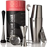 Boston Cocktail Shaker Set I Bar tools, 7 Piece Barware Kit - 2...