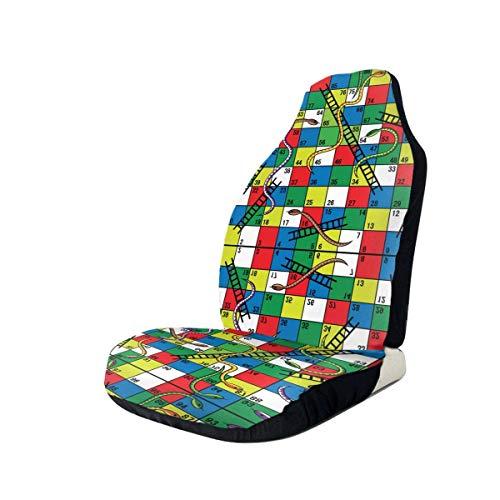 Schlangen und Leitern Brettspiel Autositzbezüge Flexibler weicher Autositzschutz Passend für die meisten Autos LKW SUV oder Van