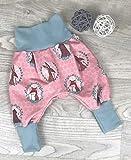 Pumphose Jersey haremshose Gr. 56-110, hose mädchen rosa Bär Hase, Babyhose, Kinderhose