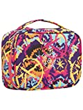 Cosmus Russet Flower Travel Makeup Bag - Cosmetic Organizer Case Portable Toiletry Bag for Women and...