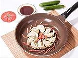 LNDDP Padella Antiaderente, Padella in Ceramica Casseruola Pentola Spessa Senza Fumo Cucina Antiaderente Pentola per frittata Universale per Pancake Pentola a induzione
