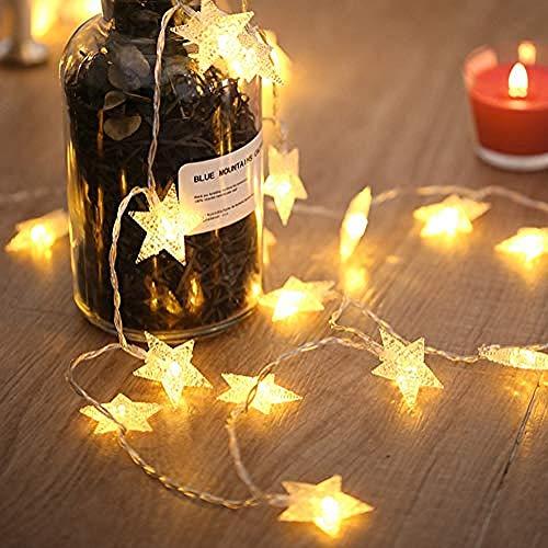 GIRLAA ¡Debes Comprar!Luces De Cortina De Estrella Luces De Hadas Con Pilas Para Navidad Boda Cumpleaños Fiesta De Vacaciones Amplificador De Interior;Al Aire Libre