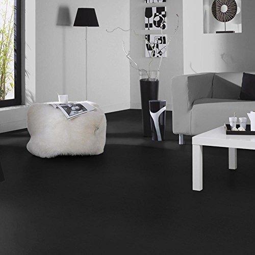 livingfloor® PVC Bodenbelag Fotohintergrund Einfarbig Uni Schwarz 2m Breite, Länge variabel Meterware, Größe:0.20x0.20 m | Muster