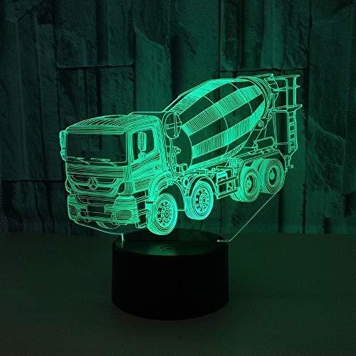 Neuer Mixer 3D Touch USB-Netzschalter Tisch kleiner Lampentisch Lampe Wohnzimmer Tischlampe