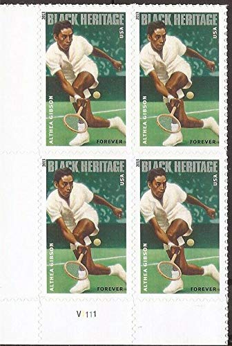 Althea Gibson Black Heritage Series Block of Four Forever Postage Stamps Scott 4803