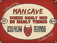 Manly Men ティンサイン ポスター ン サイン プレート ブリキ看板 ホーム バーために