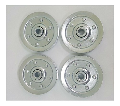 3' Garage Door Pulley for Extension Spring (4 PACK)